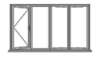 4 leaf bi-fold doors
